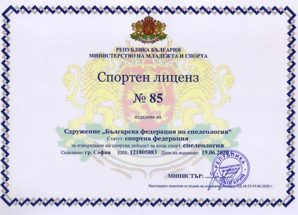 БФСп лиценз за спортна дейност